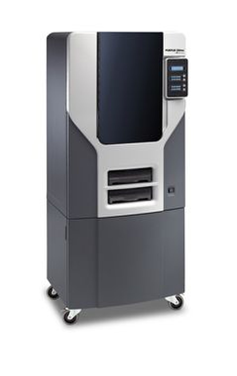 The Fortus 250mc has an optional cabinet that sits below the printer.