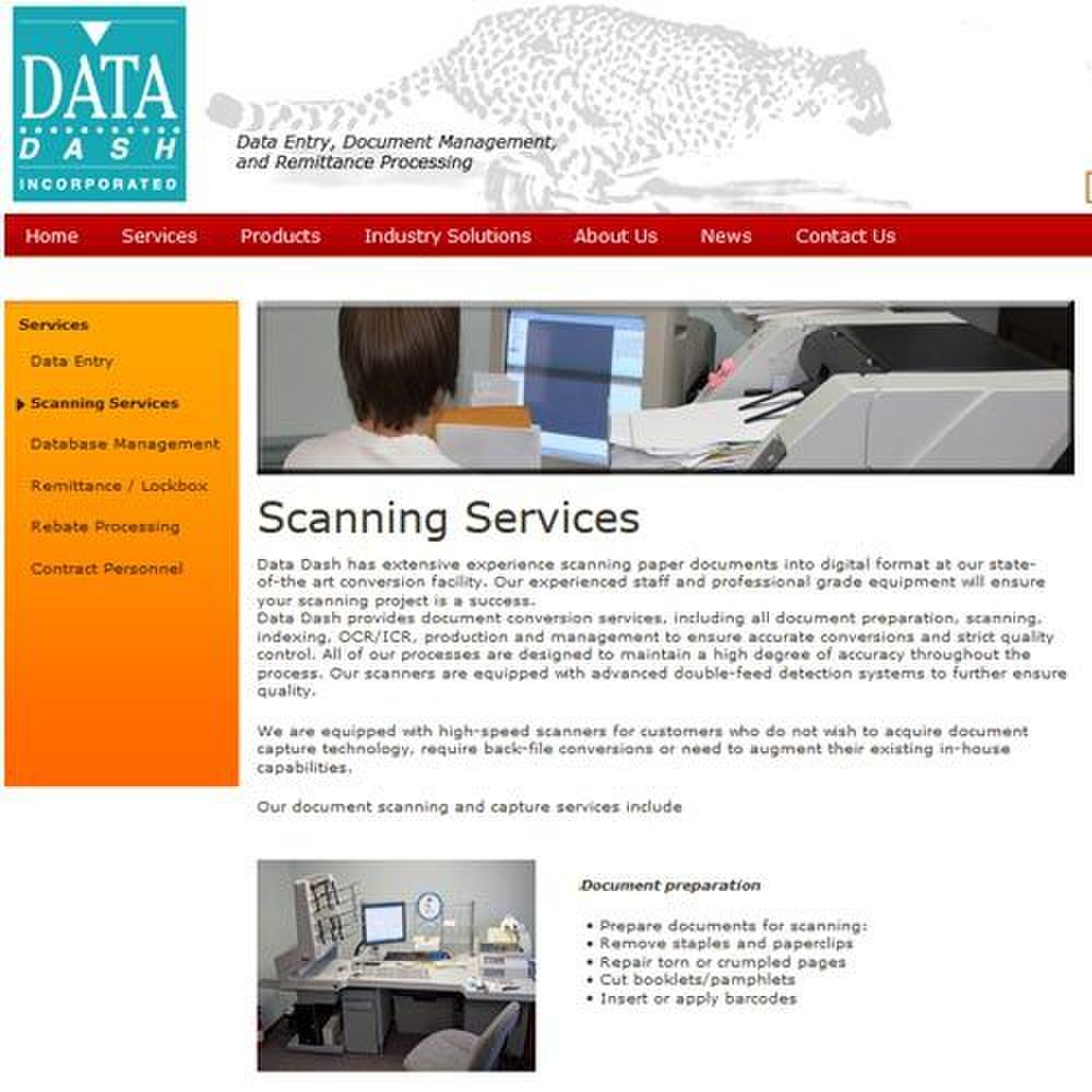Data Dash image: Data Dash's basic services include rigorous document preparation.