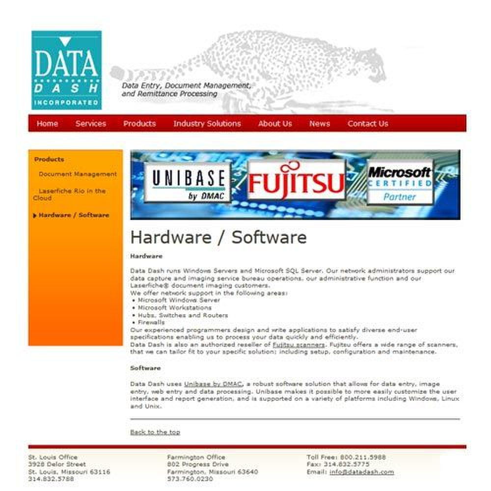 Data Dash image: Technical specifications are posted on the Data Dash website.