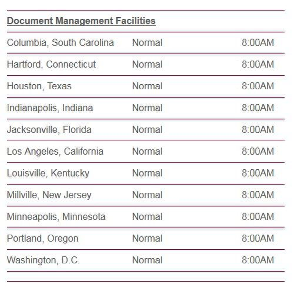 EDM Americas image: Document management facilities are located in 11 states.