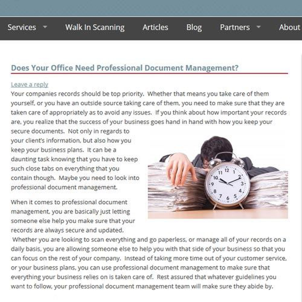 Record Nations image: The Record Nations' blog gives you information about professional document management systems and allows you to leave questions.