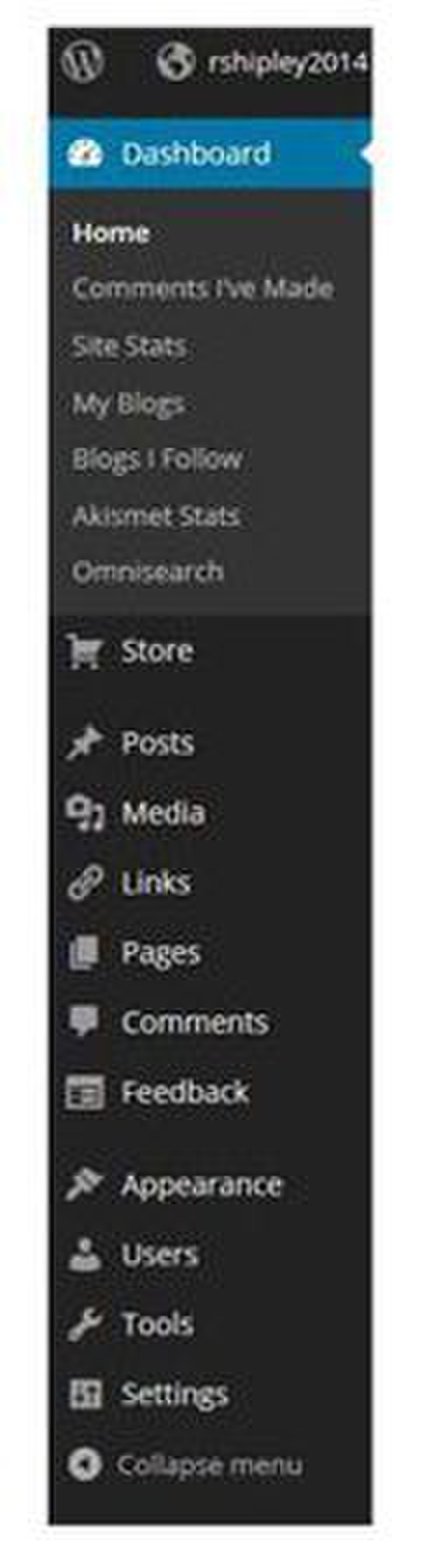 WordPress image: The dashboard tabs make it easy to access all the features.