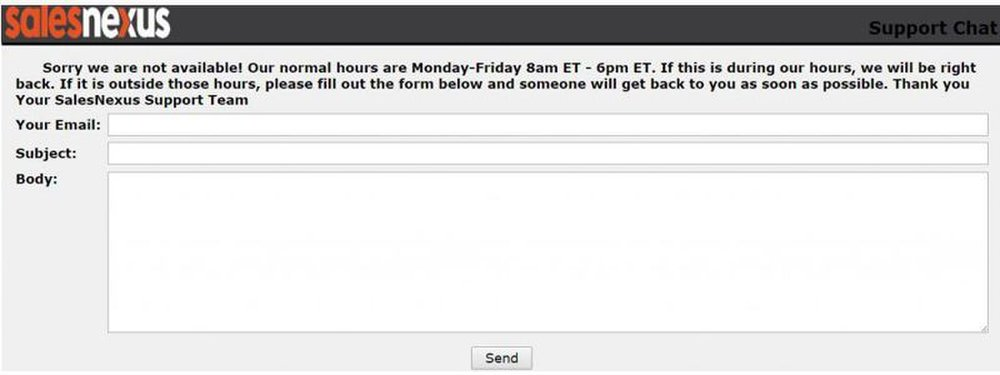 Customer support is available via live chat; however, representatives are not available 24/7.