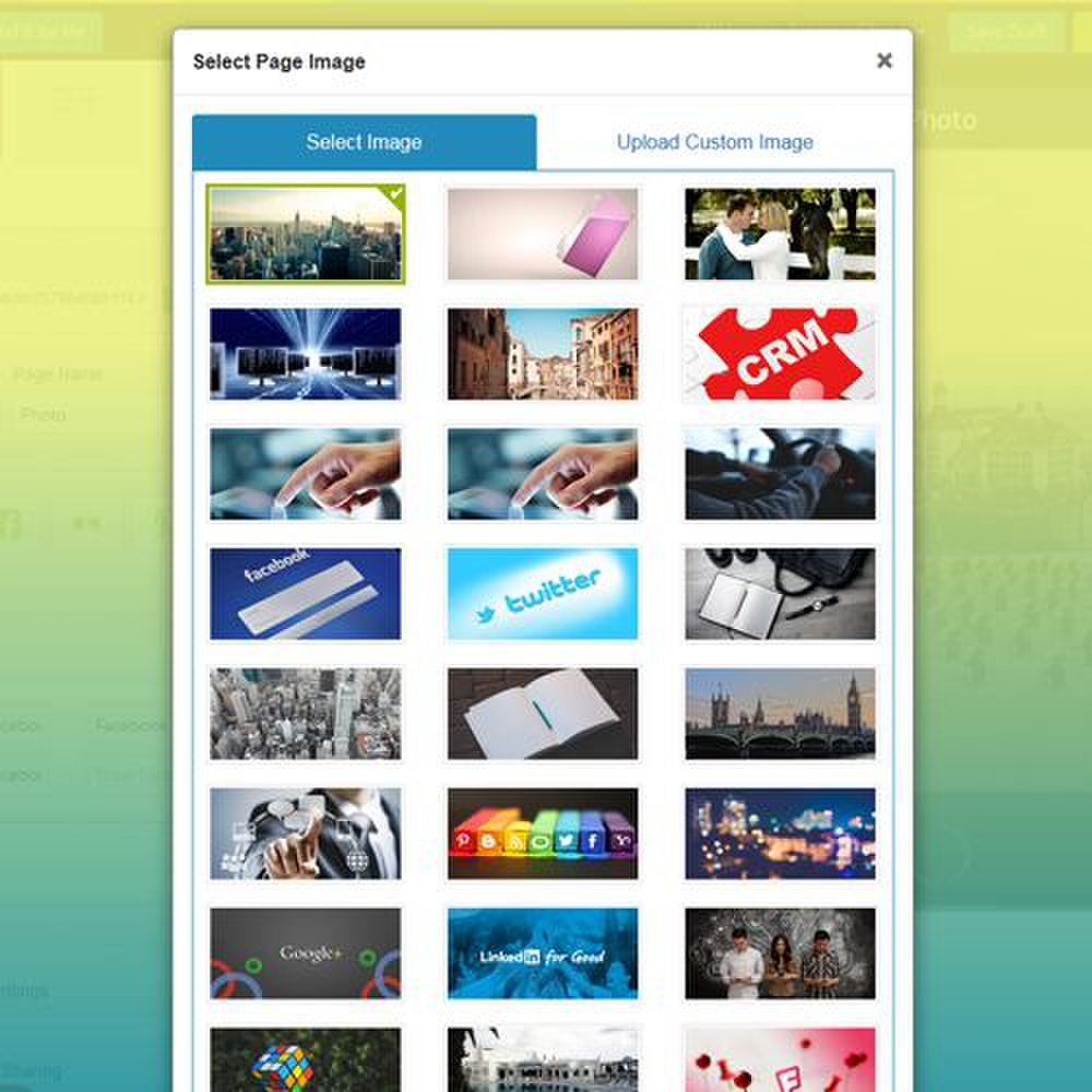 You can use the images preloaded to the software or upload your own to create a custom look.