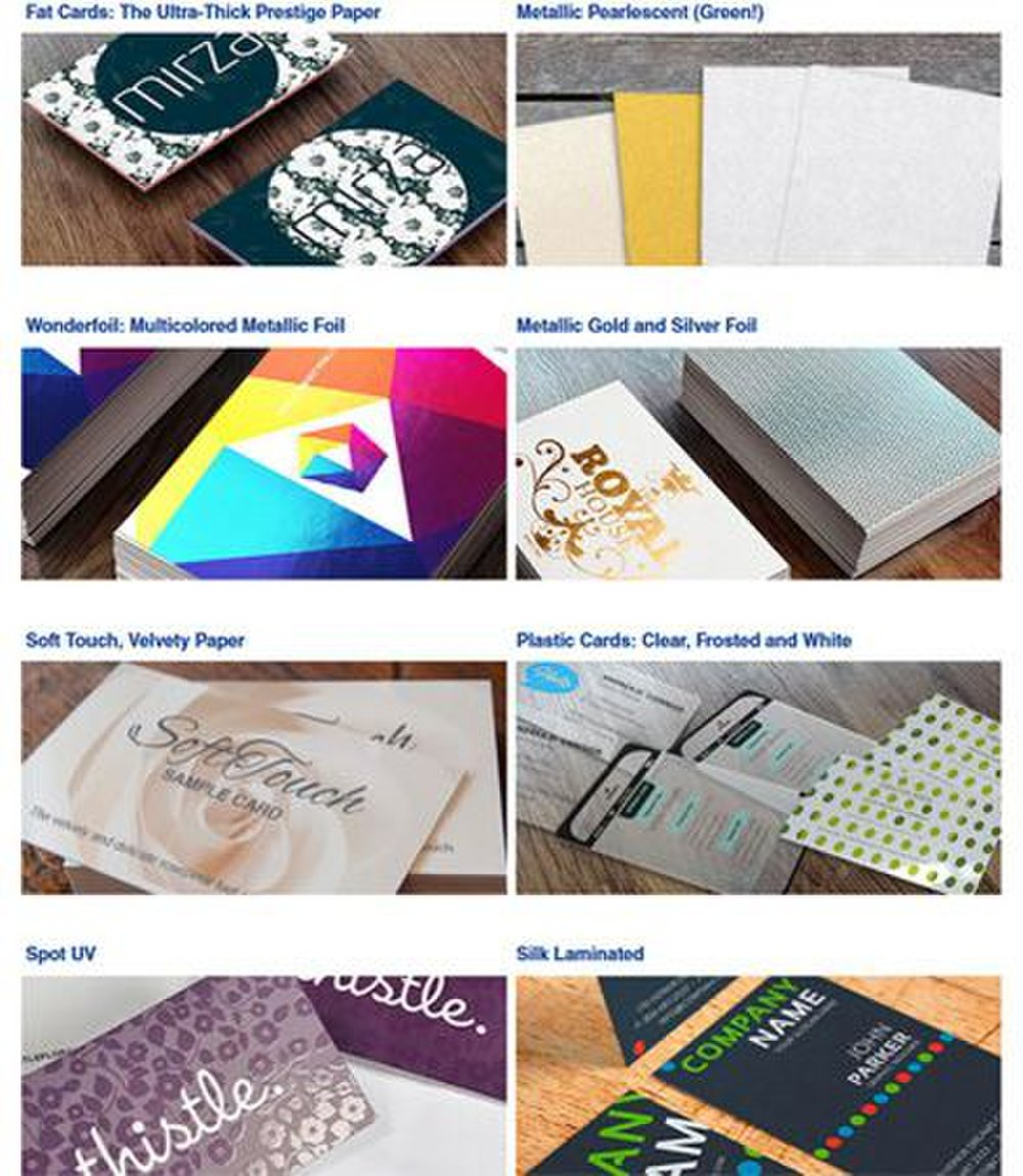 4Over4 image: This service has a large selection of finishes you can add to your business card that will leave potential customers with a good impression.