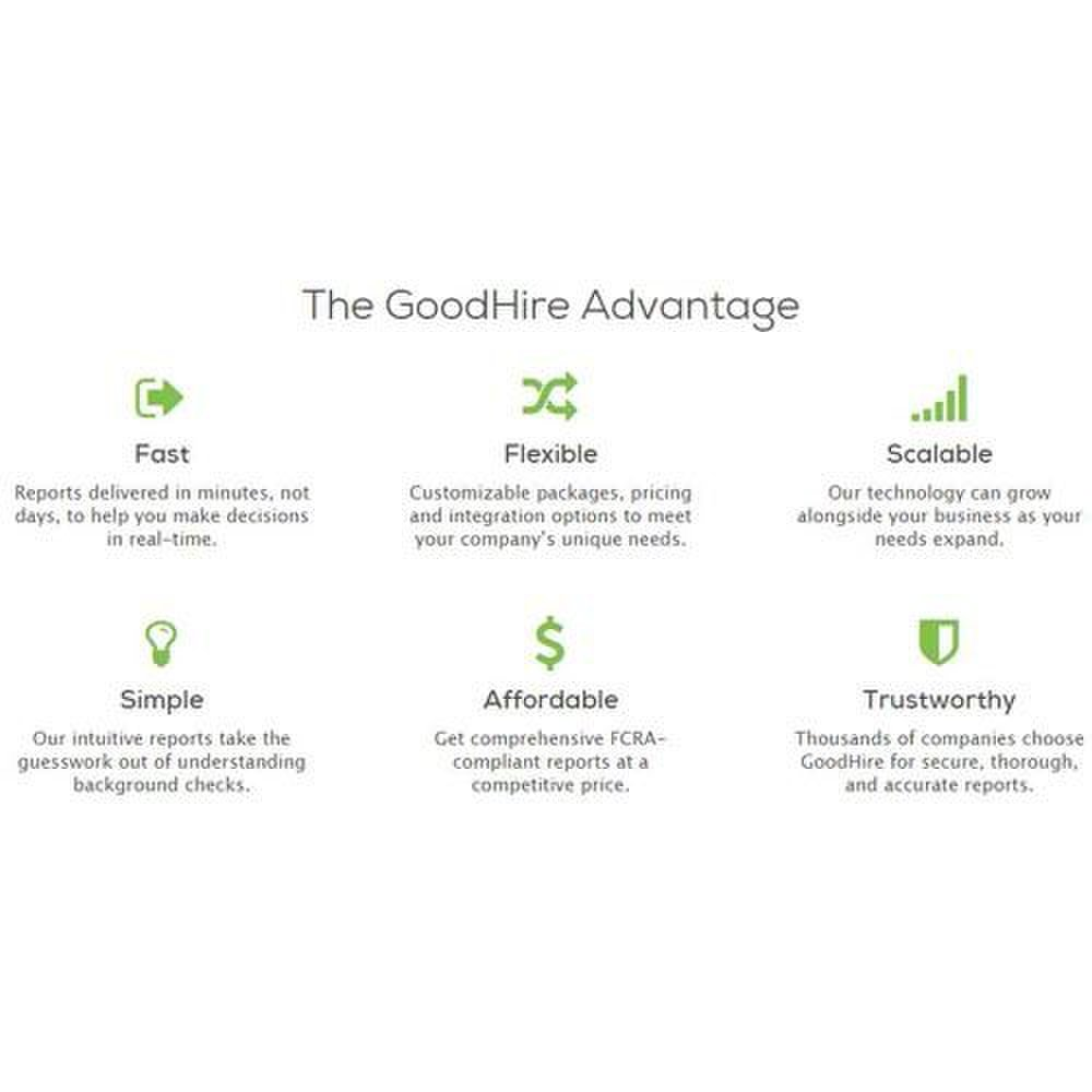 GoodHire image: This screening service offers a number of useful features.