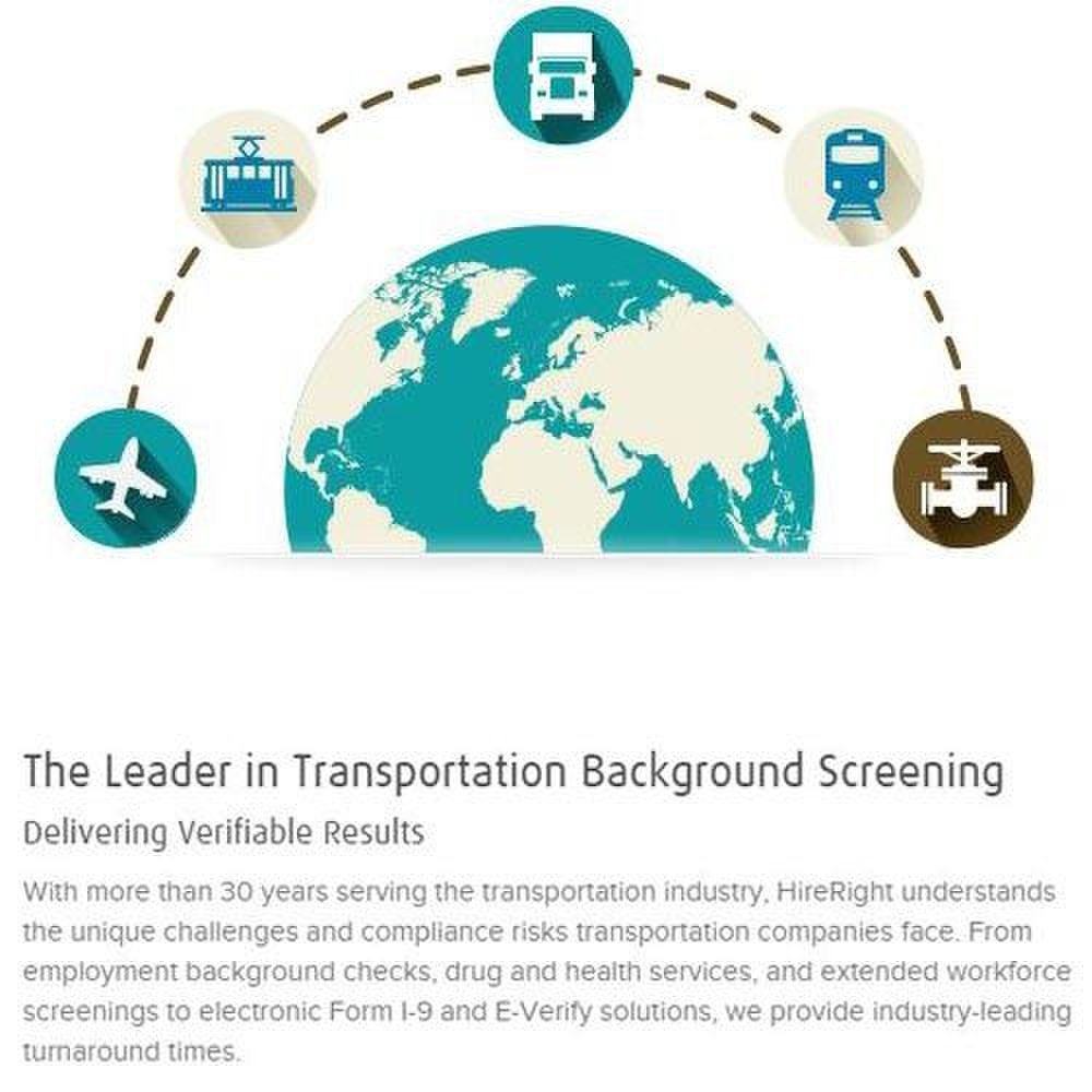 HireRight Express image: This screening service has expertise in background screening for the transportation industry.