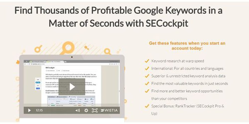 SECockpit image: This keyword research tool processes research requests in seconds.