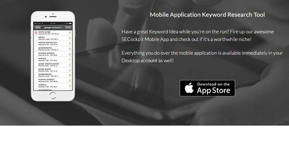 SECockpit image: This tool also provides a mobile app so you can work from any device.