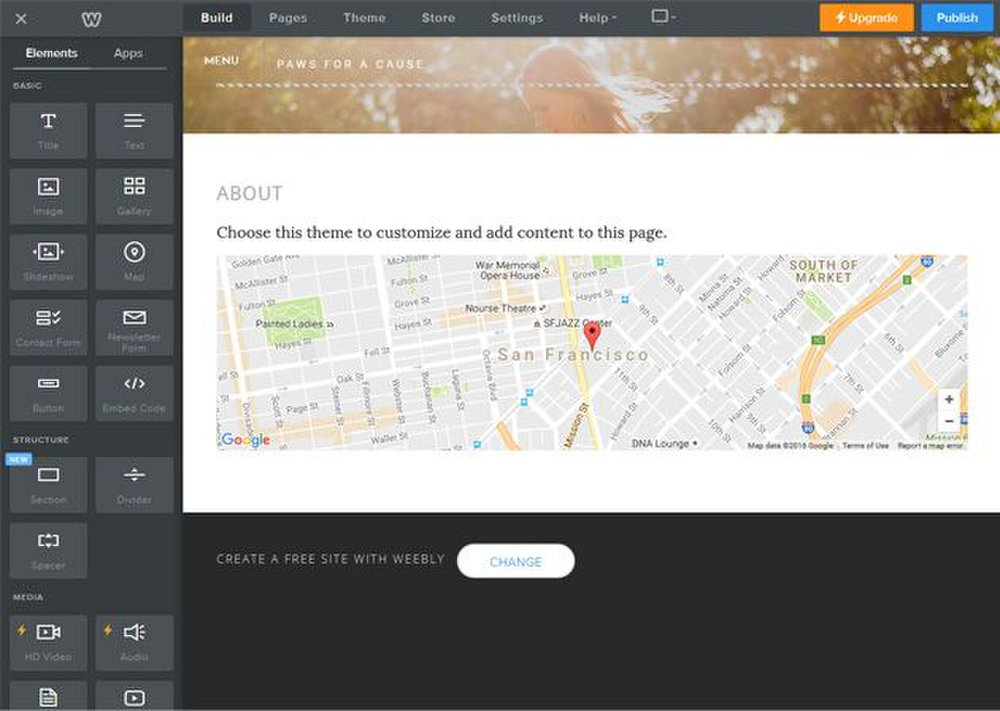 You can add Google Maps to your website with Weebly so customers know where your business is located.