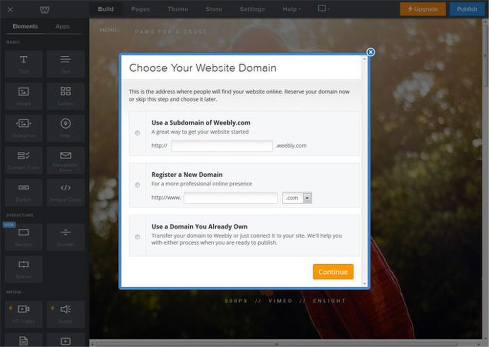 You can create a custom domain with Weebly free of charge for the first year.