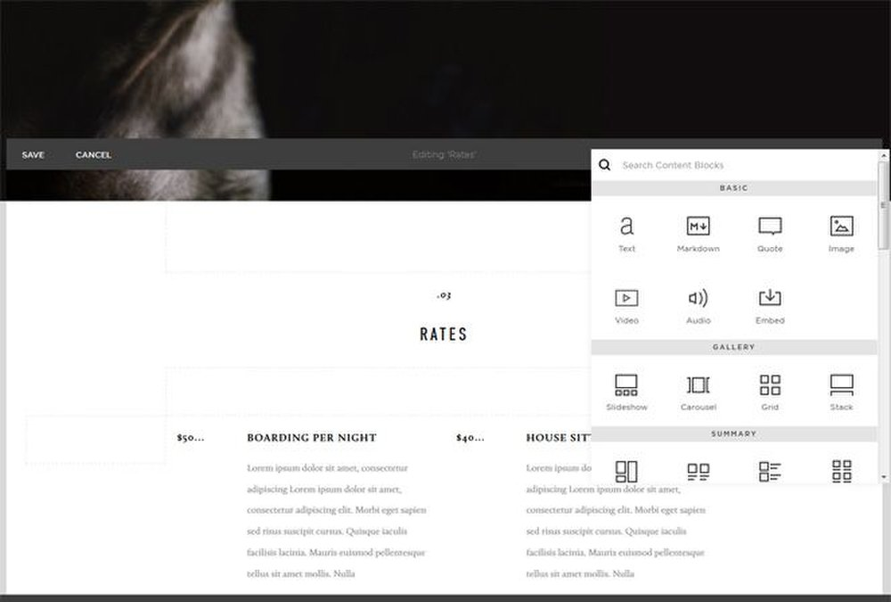 You can easily drag and drop design elements or adjust the layout using the design tool.