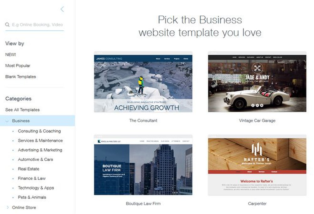 Wix Offers Over 500 Templates You Can Use To Customize Your Website