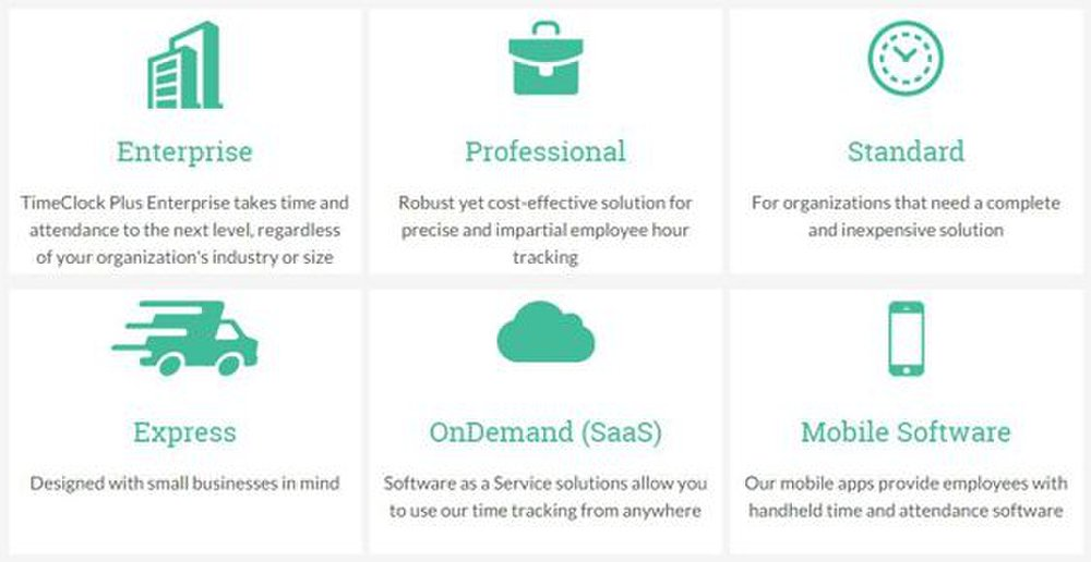 Several different versions of this time tracking software are available.