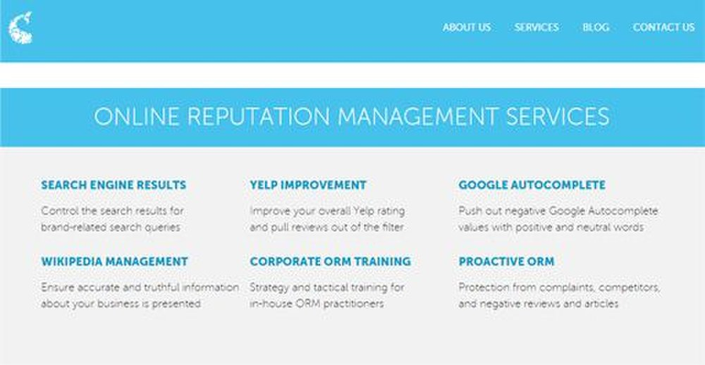 Go Fish Digital image: You can choose from six online reputation management tasks.