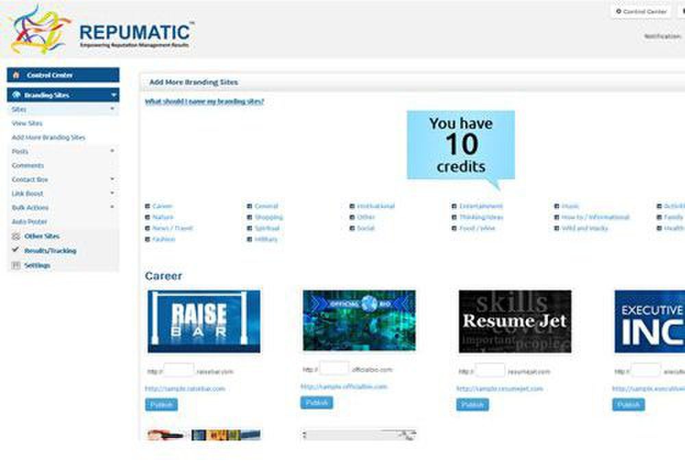 Reputation Hawk image: This service developed freeware to help you track your online reputation.