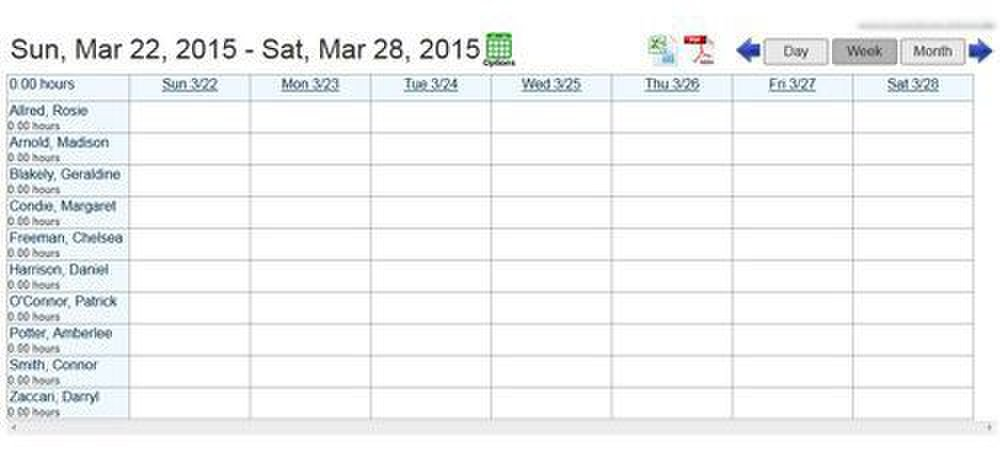 This is the schedule where you can create and assign shifts.