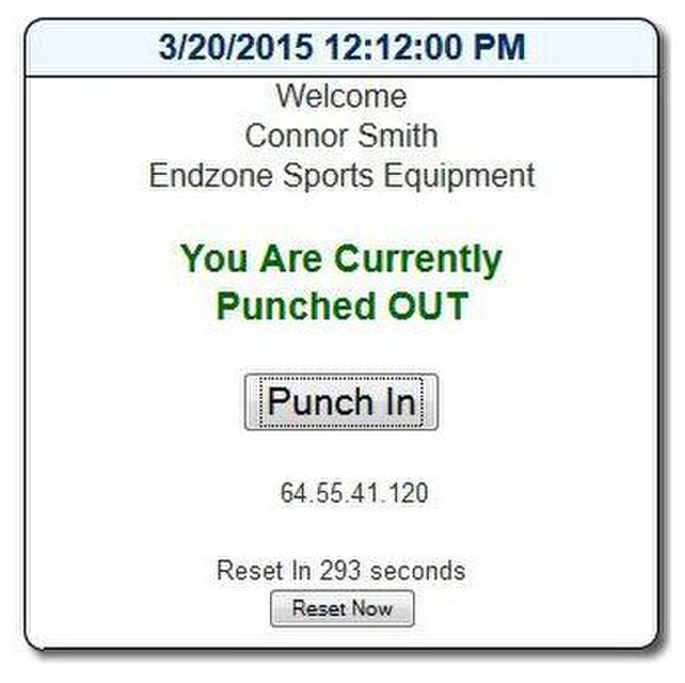 The employee punch clock is easy to use.