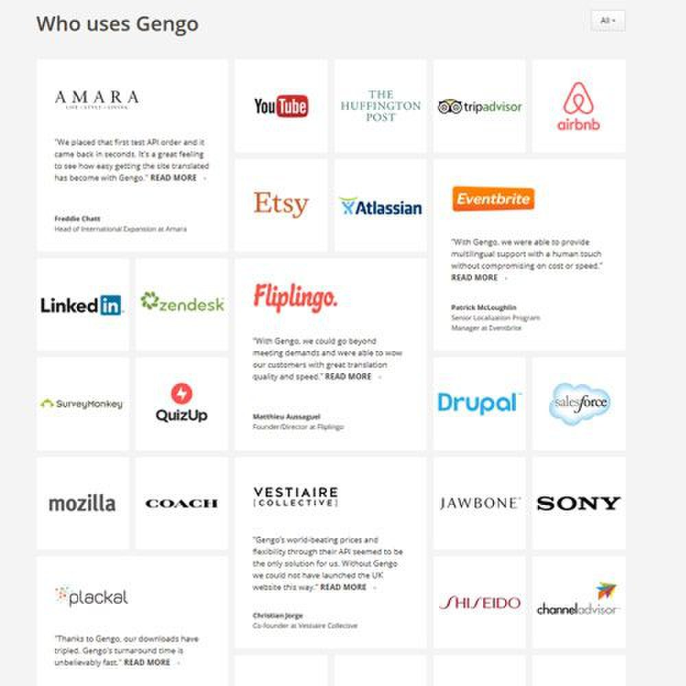 Gengo image: Gengo translates for many large corporations.
