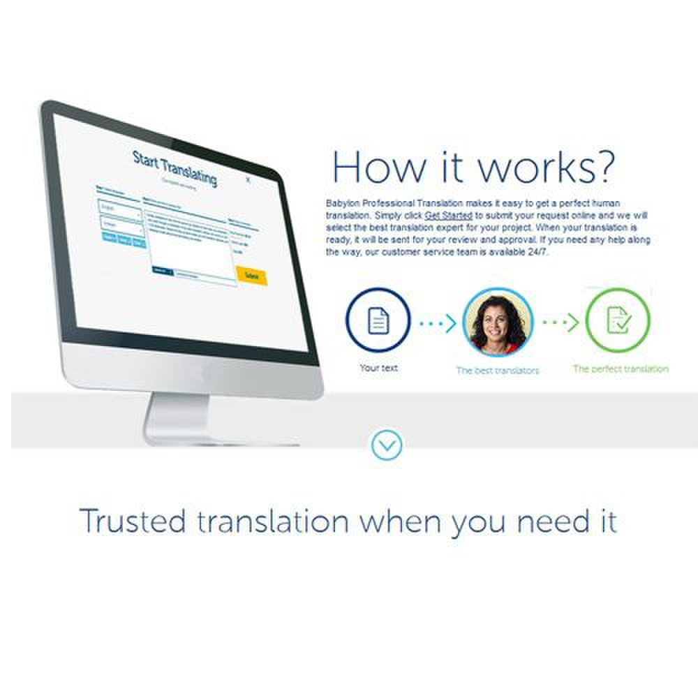 Babylon Professional Translation image: While translation is human, communicating is online.