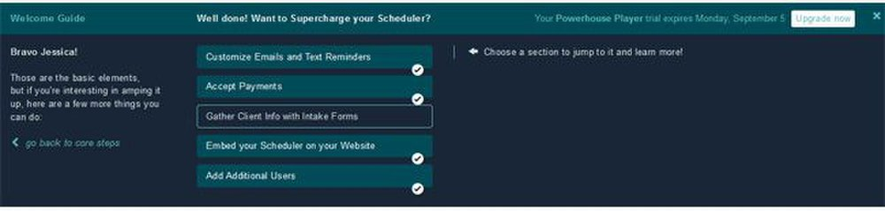 Acuity Scheduling image: This software offered the most intuitive wizard that allowed you to choose the order in which you set up your online scheduler.