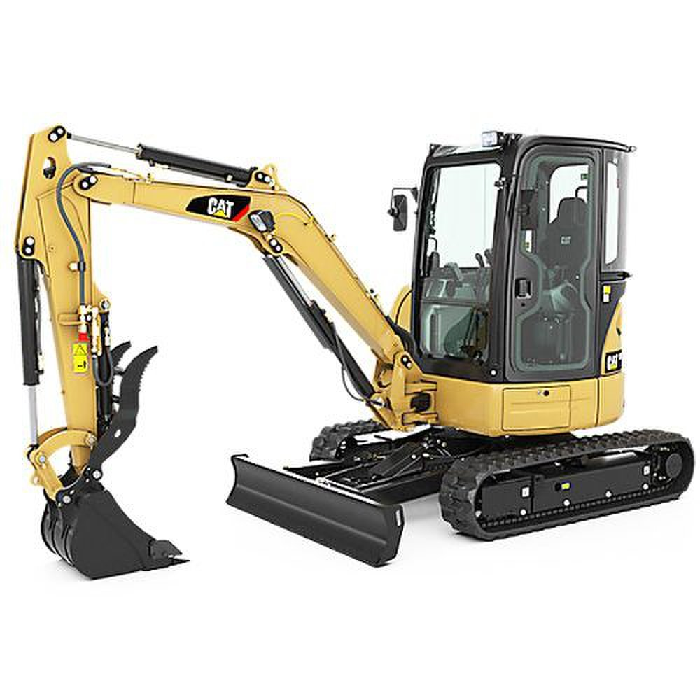 Cat 301.5 Mini Hydraulic image: This machine weighs 3,687 pounds.