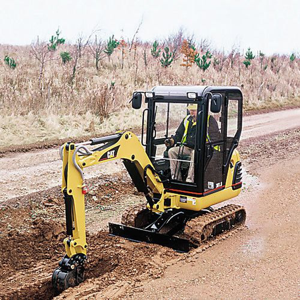 Cat 301.5 Mini Hydraulic image: There are two traction options available: high and low.