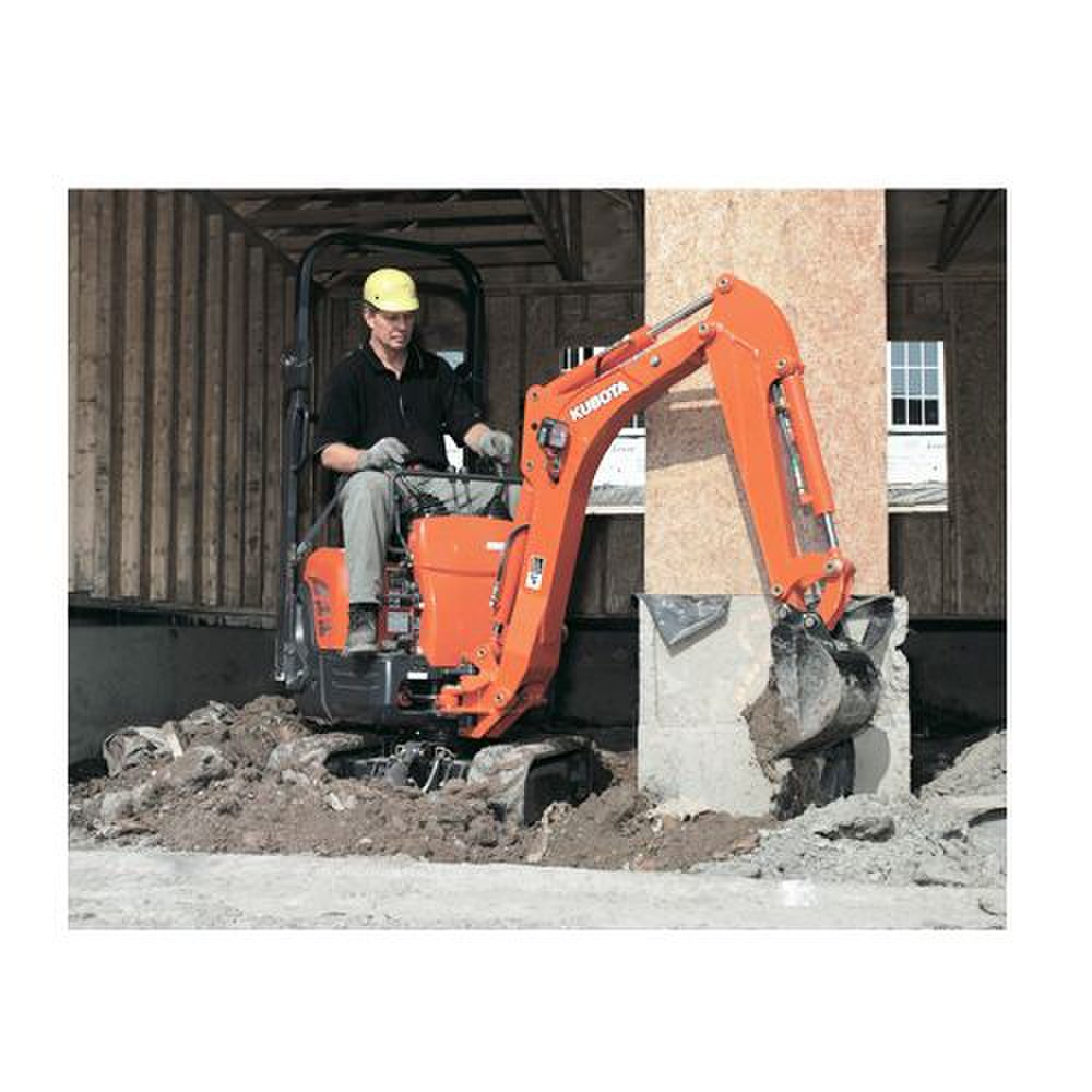Kubota K008-3 image: There are two travel speeds on this machine: 1.2 mph and 2.5 mph.