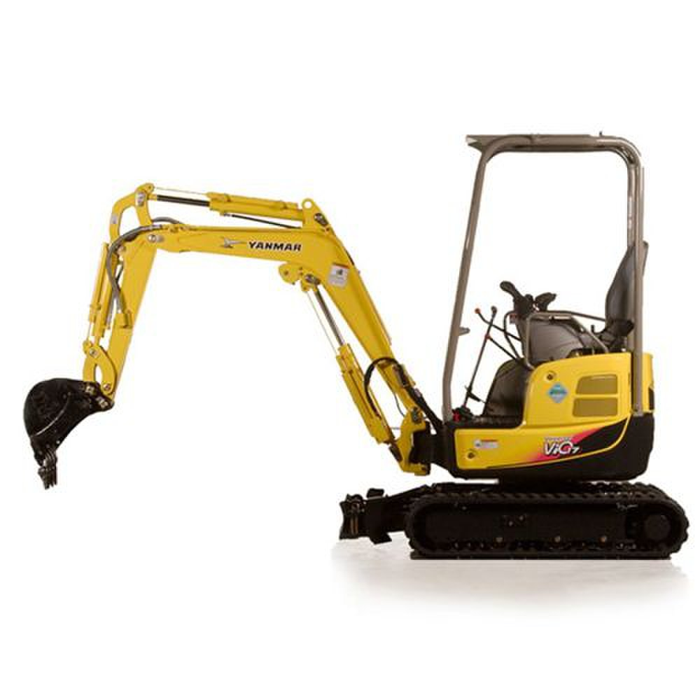 Yanmar ViO17 image: The engine on this machine is diesel and has 13.5 horsepower.