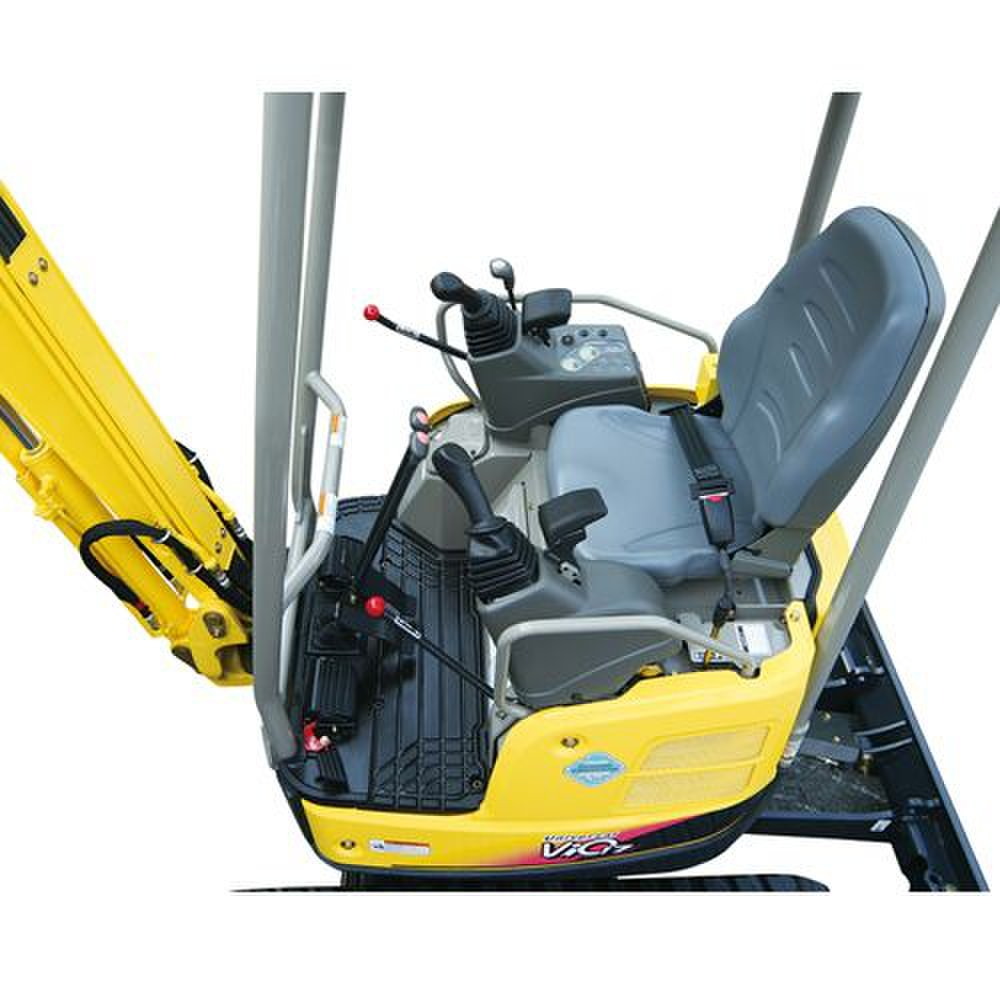 Yanmar ViO17 image: The cab on this machine is not fully enclosed and allows the operator to walk through a quick entry or exit.