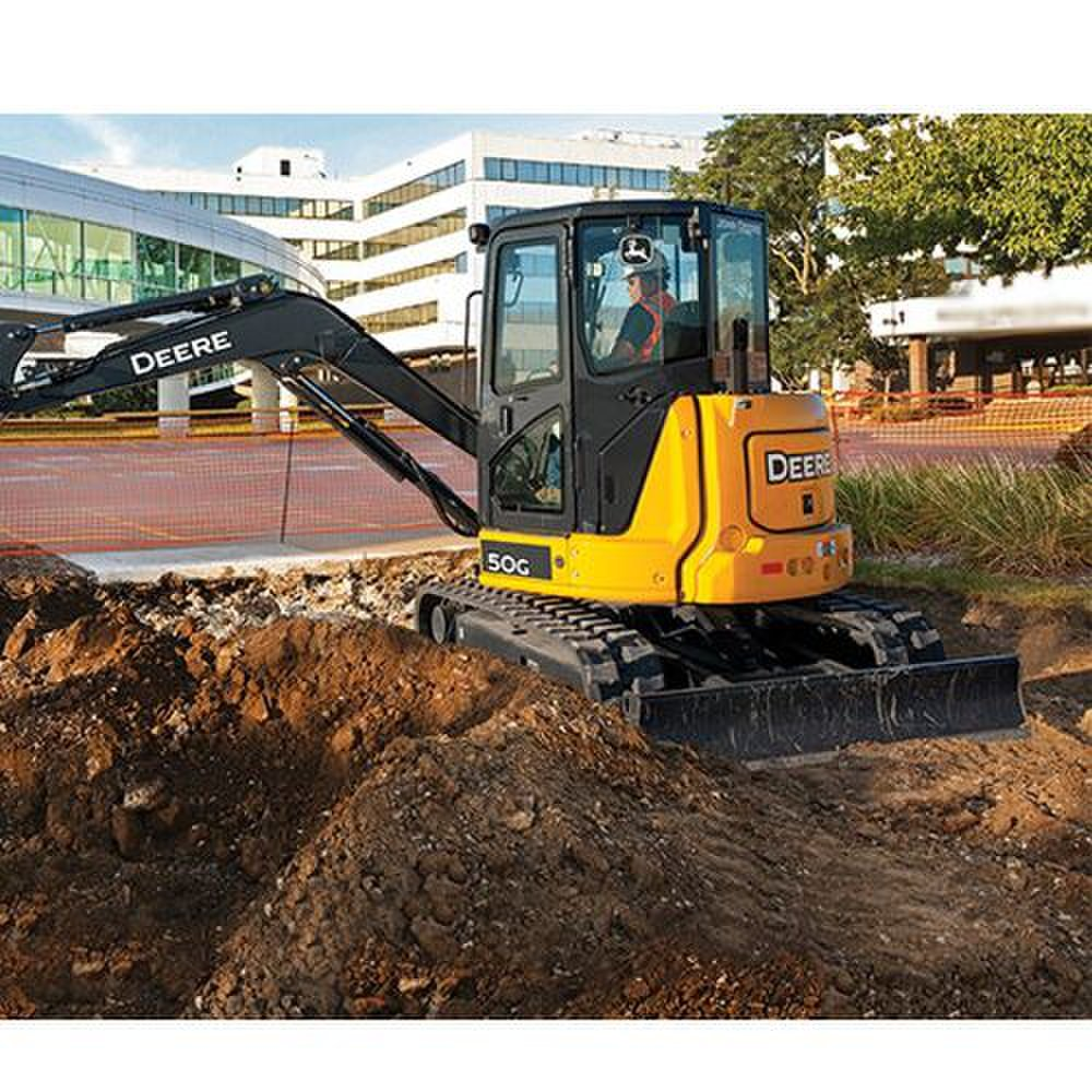 John Deere 50G Compact image: The engine of this excavator has 4-cylinder capacity that is 1.6 liters.