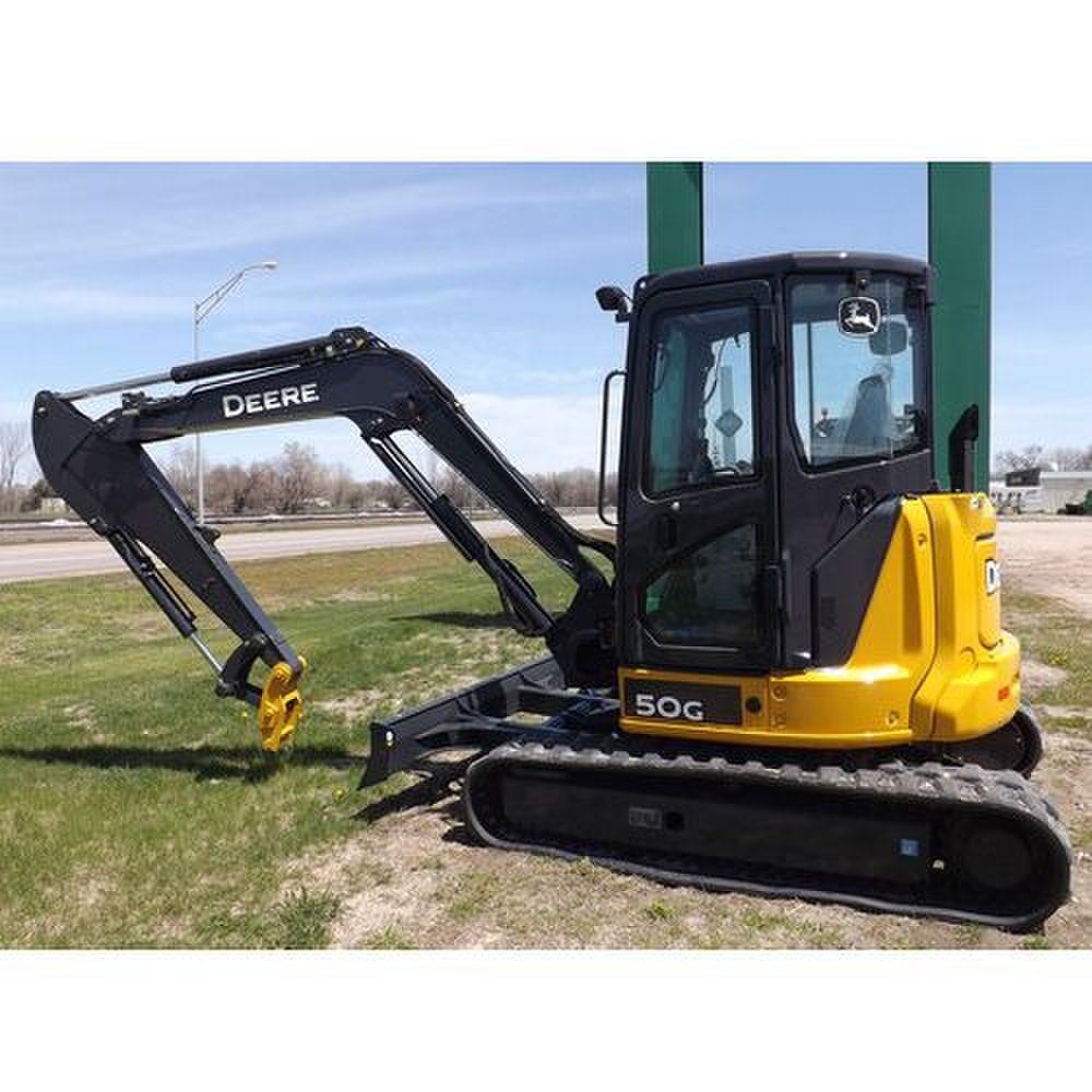 John Deere 50G Compact image: This machine delivers 36 horsepower.