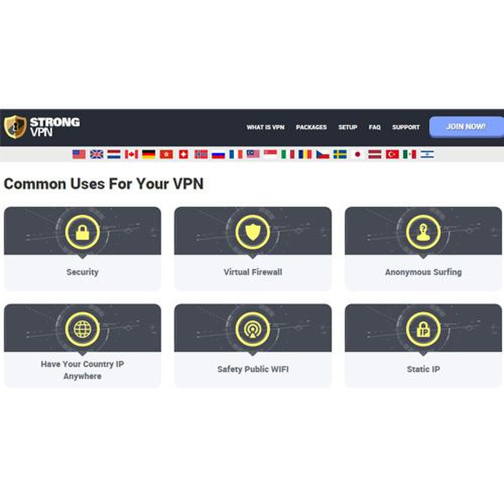 StrongVPN image: You can use this software with multiple browsers and devices.