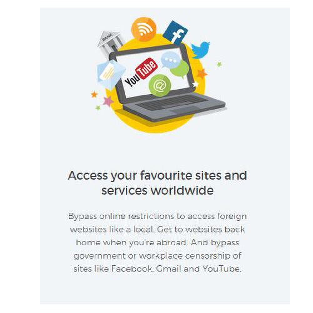 Hide My Ass image: While you're abroad, this VPN service allows you to bypass online restrictions.