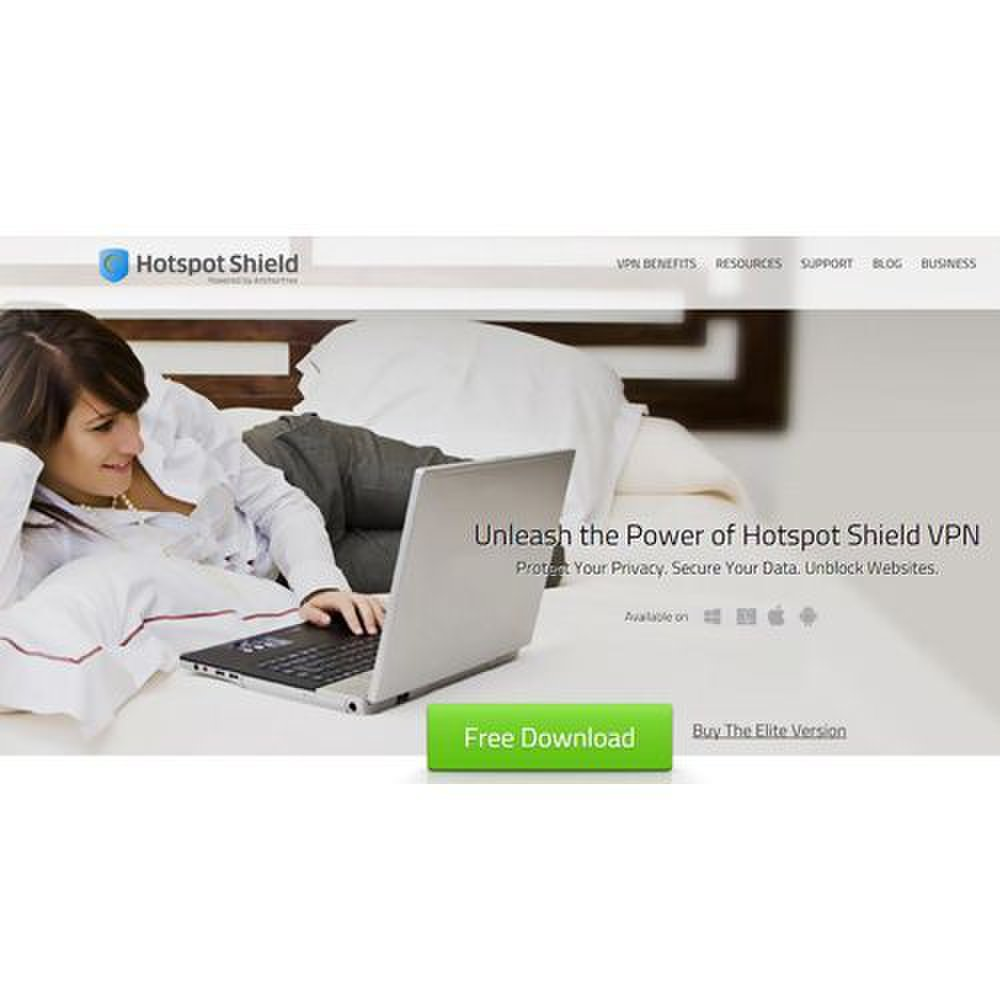 Hotspot Shield Elite image: The program helps to block pop-ups and malicious sites.