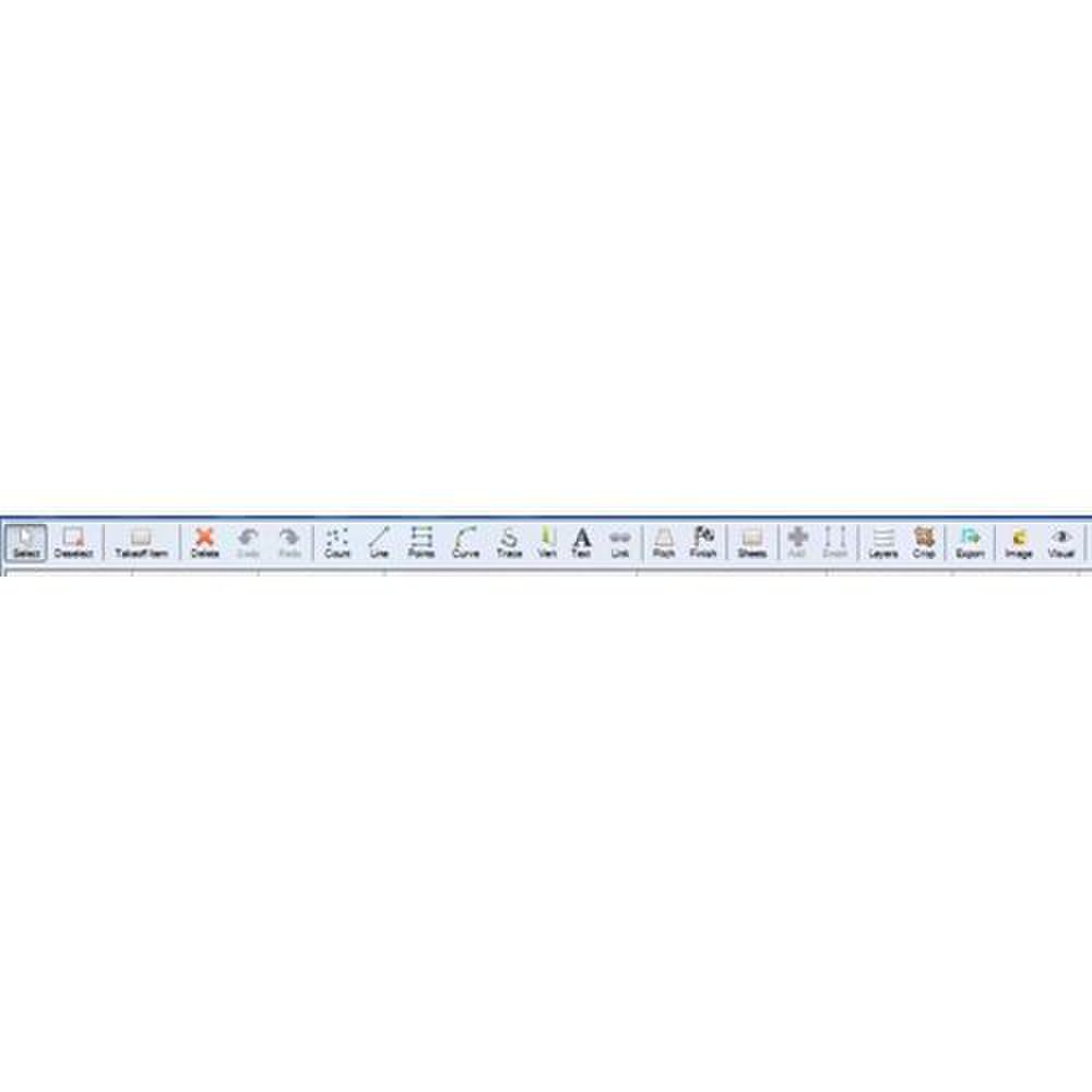 ProContractor Estimating image: This tool bar has several functions pinned to it.