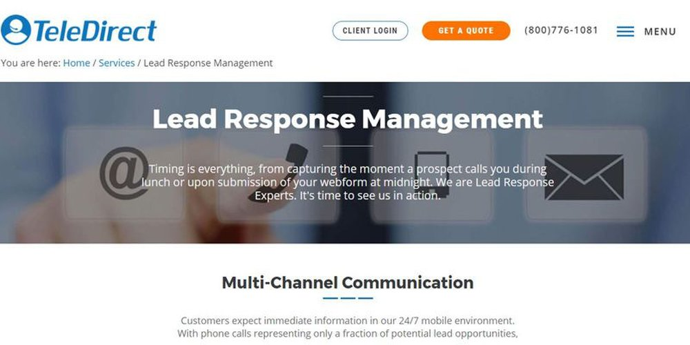 Using multichannel communication, TeleDirect helps convert leads into paying customers.