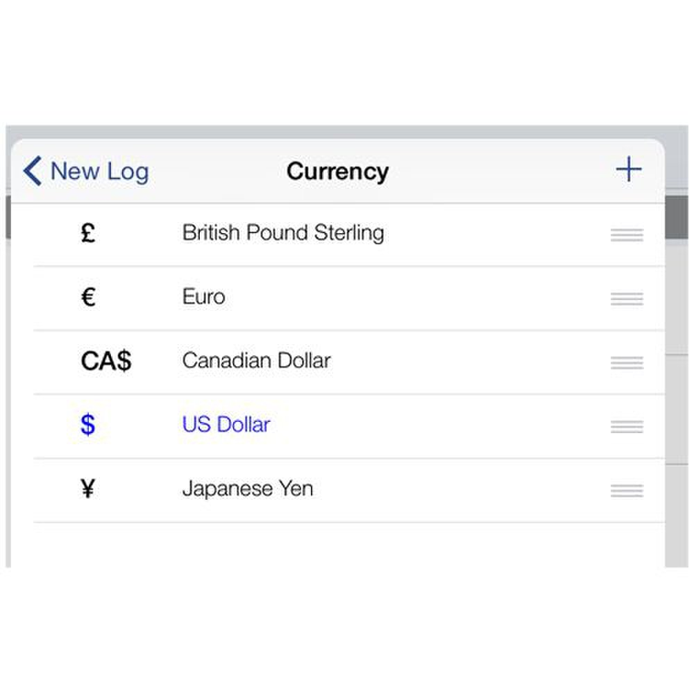 BizXpense Tracker image: You can set the currency that your business uses.