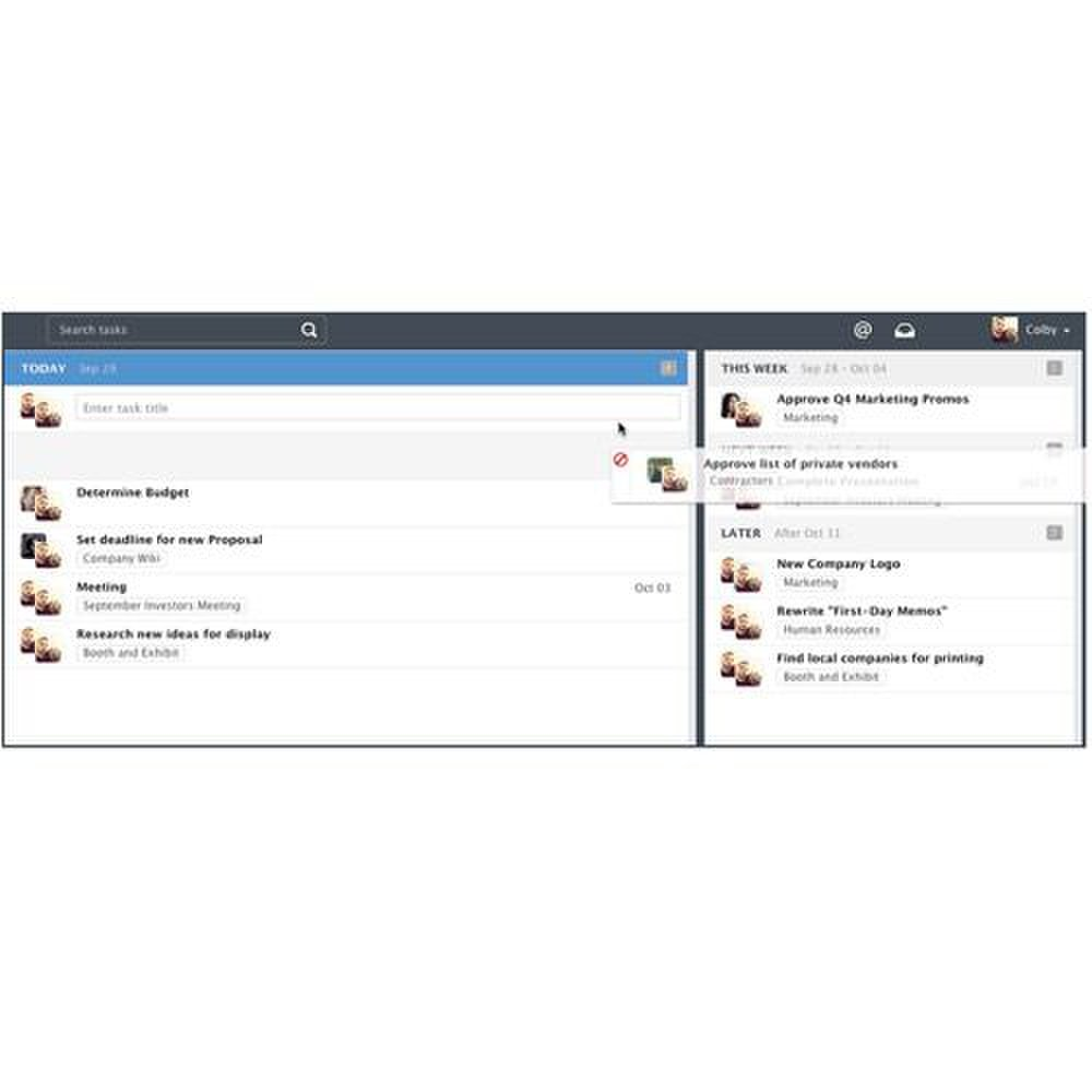 Wrike image: You can drag and drop tasks to organize your task lists and schedules.
