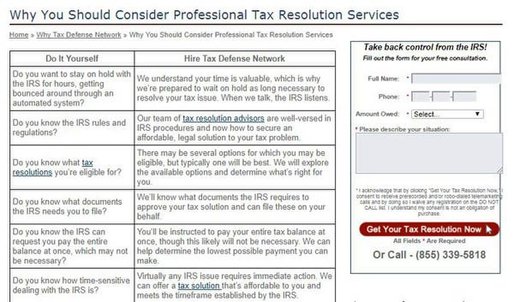 This service finds out what options and negotiations you qualify for and works with you and the IRS to find the option best for your tax debt situation.