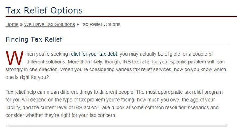 If you have questions about the benefits of hiring Tax Defense Network versus working with the IRS yourself, you can peruse a table on this company's website that explains the pros and cons of each option.