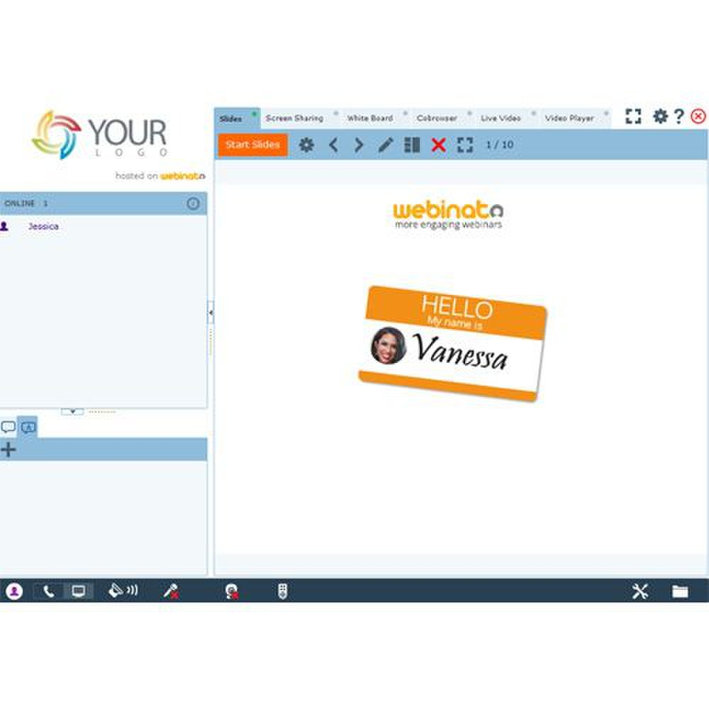 This service has a recast feature where many of the presentation tools work during the recordings of the webinar.