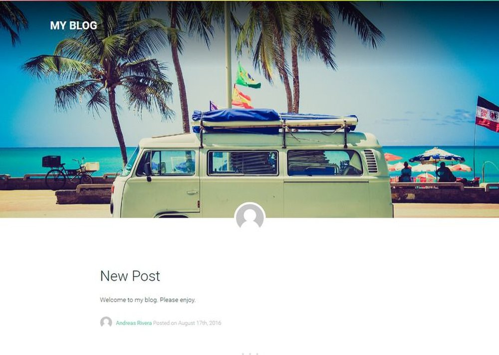 Postach.io image:  The platform offers an array of simple, professional-looking templates for your blog.