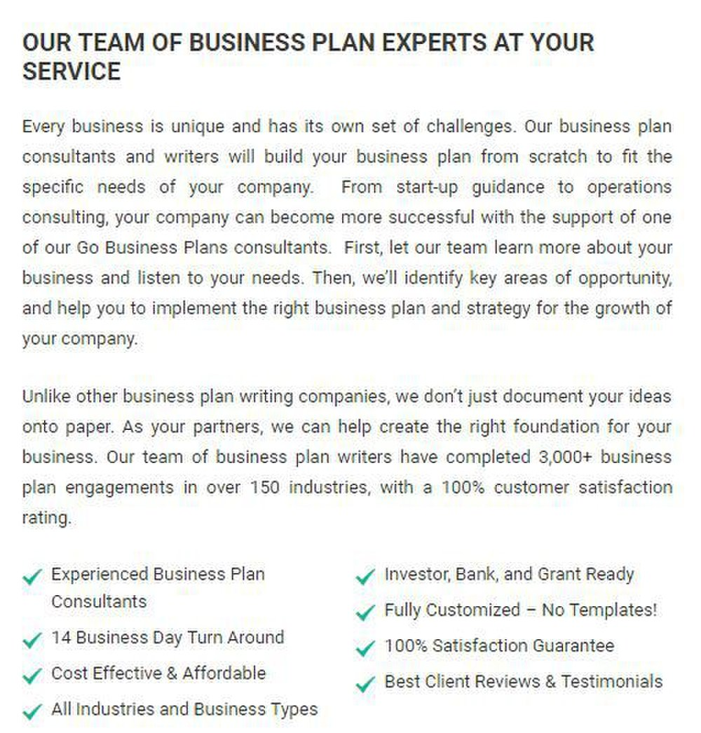 Go Business Plans Review   Businesscom Go Business Plans Image This Service Has Experience Writing Plans For A  Variety Of Industries
