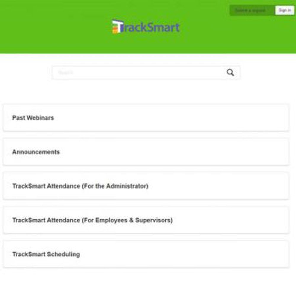 TrackSmart image: On the TrackSmart platform, you can post past webinars and training materials for employees to access.
