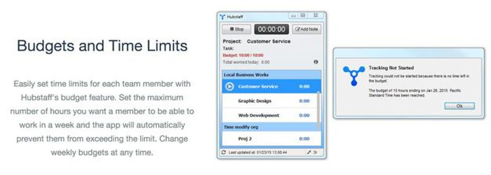 Hubstaff image: You can completely block social media sites or budget times when employees can access them.