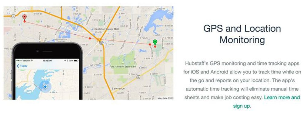 Hubstaff image: The software works with mobile devices, so you can track employees on the go.