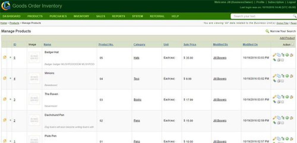 Goods Order Inventory Management System Pro image: The interface is clean and easy to understand.