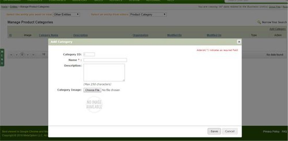 Goods Order Inventory Management System Pro image: You can set categories to better organize your items.