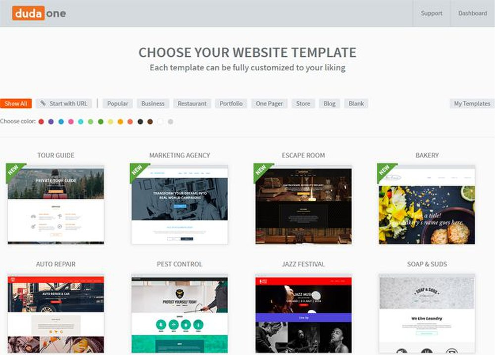 You can select from over 80 templates.